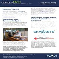 antennaPRO Newsletter - July 2016