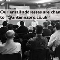 Our email addresses are changing to '@antennapro.co.uk'