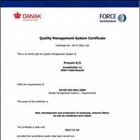 Procom A/S, ISO 9001:2008 Certified